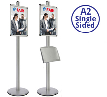 AXIS 1 - Single Sided A2 Display Stand With Optional Shelf