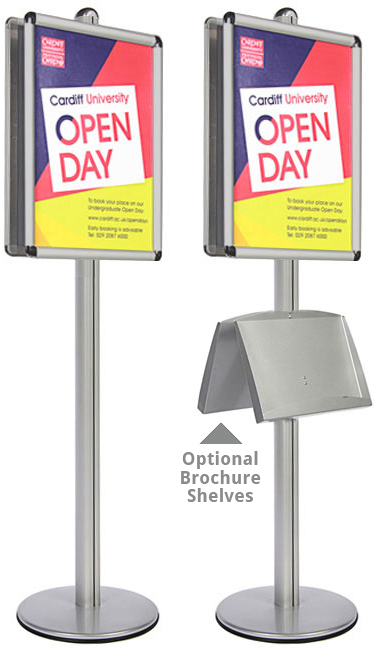 A1 double sided sign holders ideal for theatres, colleges, museums and universities.