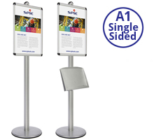 AXIS 3 - Single Sided A1 Display Stand With Optional Shelf