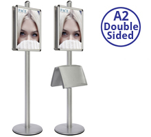 AXIS 2 - Double sided A2 Display Stand With Optional Shelves