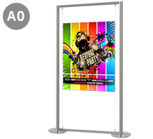 1 x A0 Portrait Floor Standing Poster Display Stand