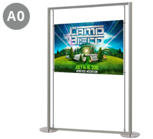 1 x A0 Landscape Floor Standing Poster Display Stand