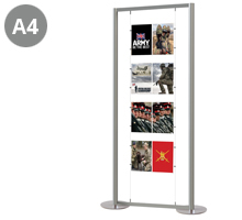 4 x Double A4 Portrait Poster Display Stand