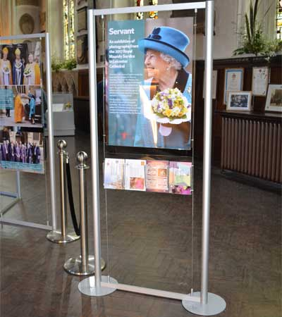 The perfect freestanding display stand for posters and brochures/flyers.