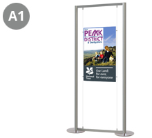 1 x A1 Portrait Floor Standing Cable Display Stand
