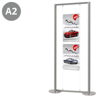 2 x A2 Portrait Free Standing Cable Display Stand