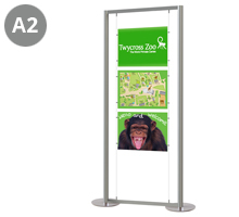 3 x A2 Landscape Floor Standing Cable Display Stand