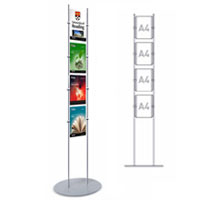 Rod Display Stands  - 4 x A4 Portrait Poster Holders