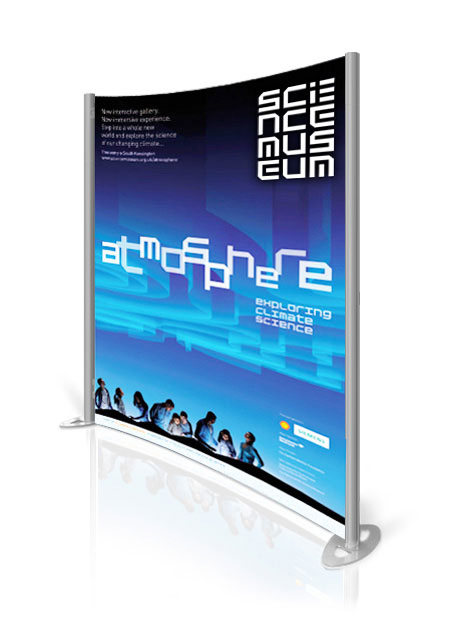 The Fuse 2 exhibition display stand with printed graphics.