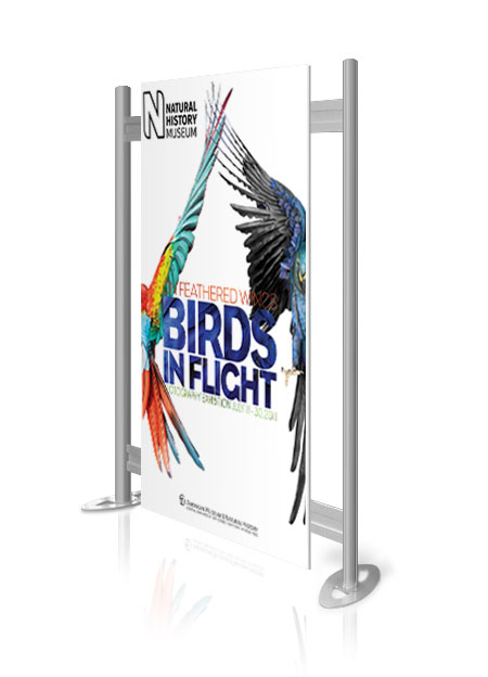 A stylish free standing exhibition display stand from RAL Display.