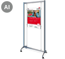 Mobile A1 Portrait (x1) Cable Display Stands