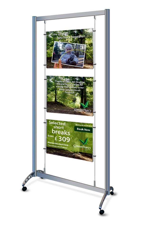 Portable Cabinets For Display : Mobile a display stands on wheels with clear acrylic