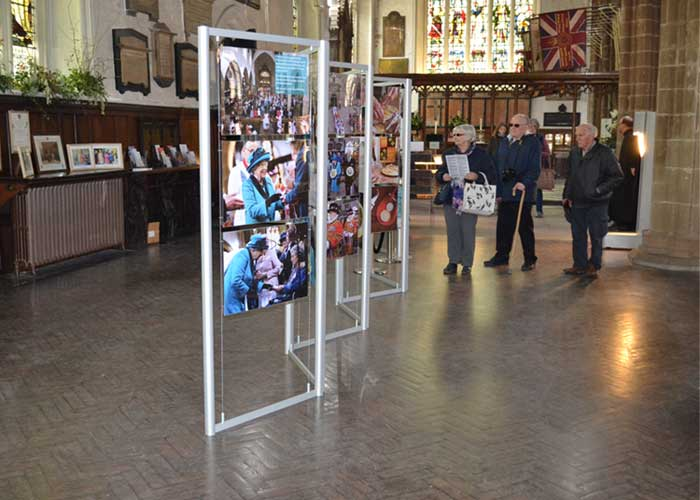Leicester Cathedral purchased a set of 6 freestanding display stands for the Queens recent visit.