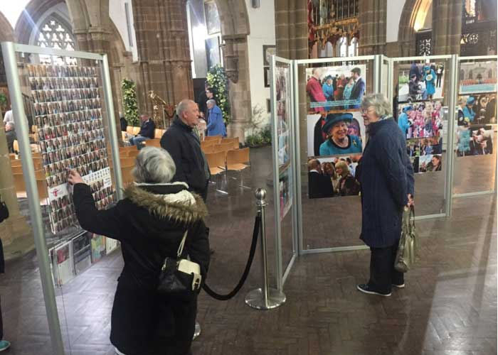 Display stands used at Leicester Cathedral