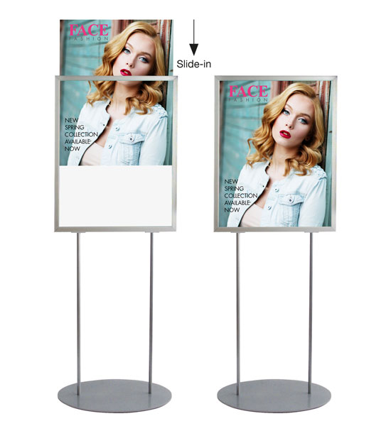 A1retail poster stand - Holds 2 x A1 posters - Double sided