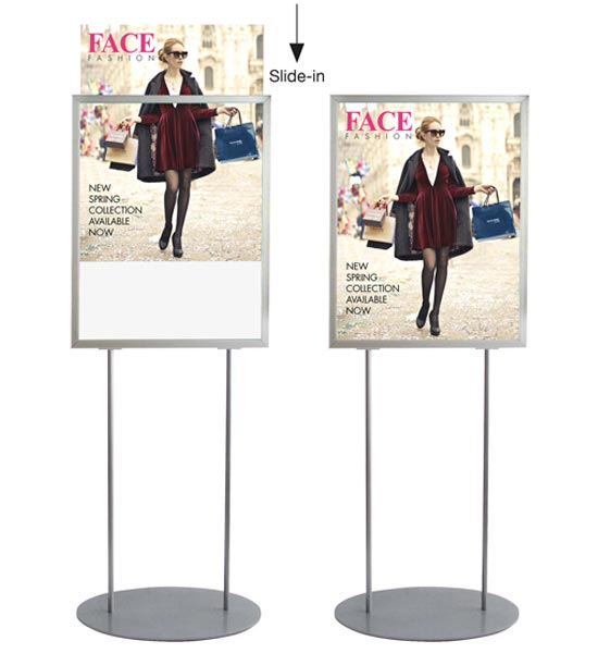 A2 retail poster stand - Double sided