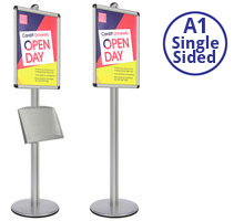 AXIS A1  - Single Sided Heavy Duty  Poster Stands