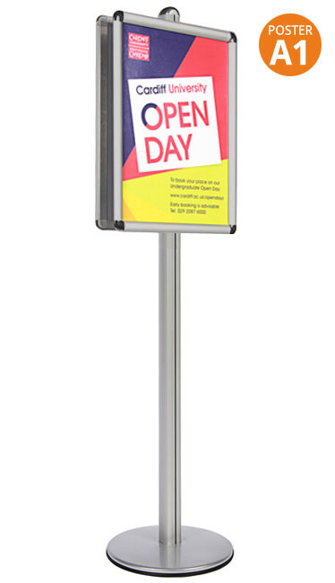 A1 double sided poster stands ideal for theatres, colleges, museums and universities.
