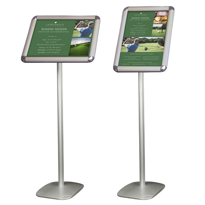 Sign holders with A3 poster frame | RAL Display