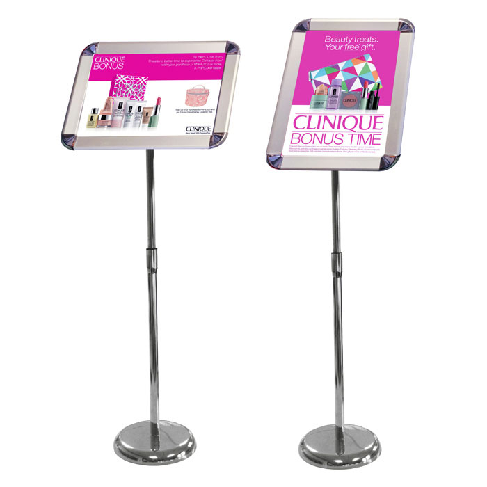 A3 Sign stand with rotating head