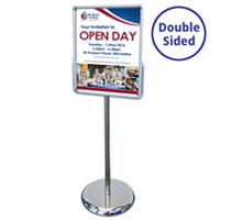 Mercury A2 Portrait Double Sided Sign Holder