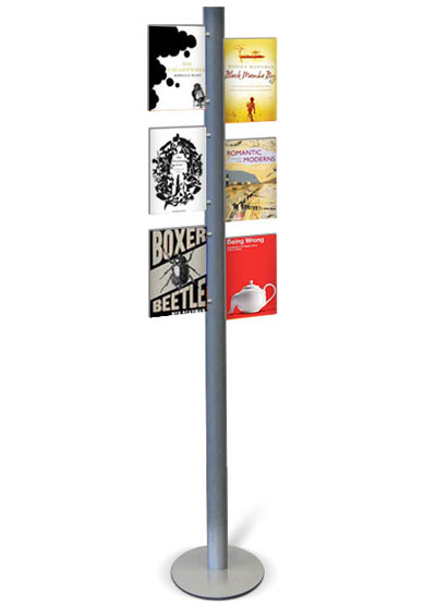 Totem Information Stand with 6 x A4 poster pockets