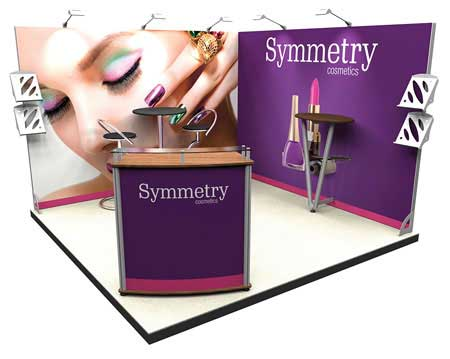 3m L-Shape Exhibition Display Stand