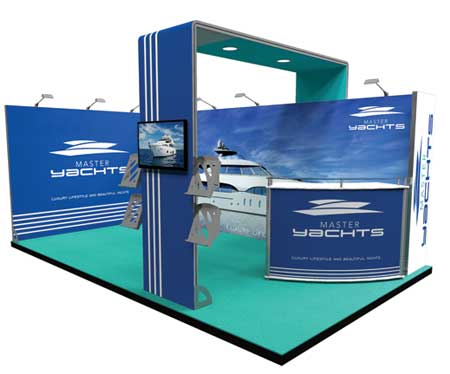 5m x 3m Exhibition Stand Example