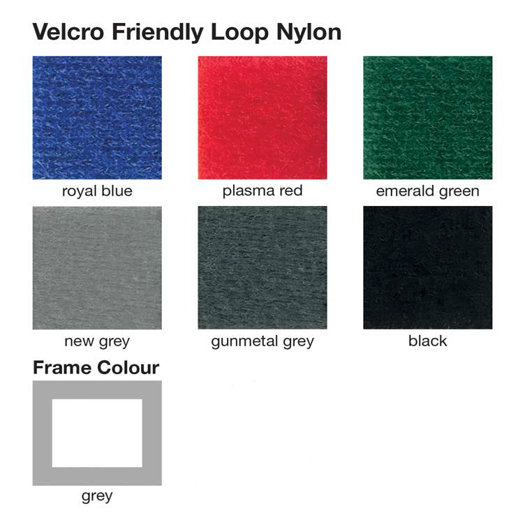 Nyloop and woolmix fabric swatch for office partition screens.