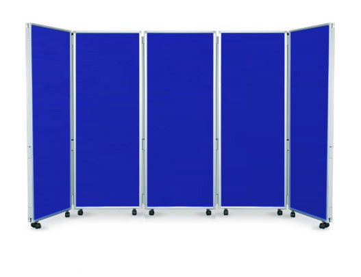 Example of 5 panel folding office partition screens