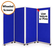 Mobile 4 Panel Folding Display Boards 1500mm High
