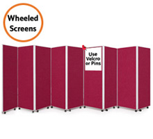 Mobile 9 Panel Folding Display Boards 1500mm High