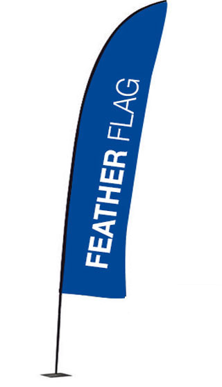 Feather flag for outdoor promotions