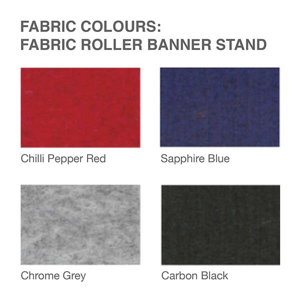 Fabric colour options: Omega Roller Fabric Banner Stand | Pull up Stand