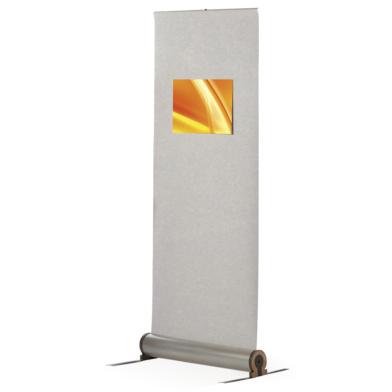 Fabric roller banner stands