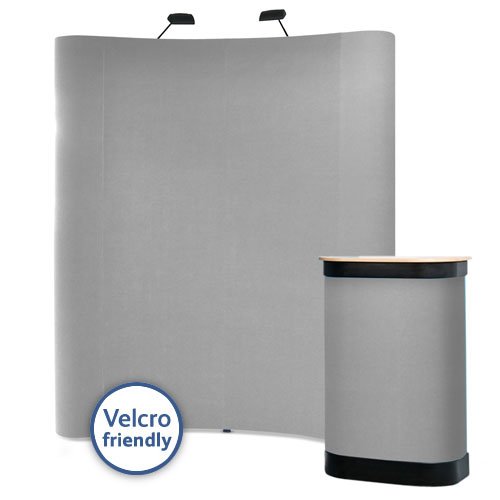 Popup stands 3x2 with Velcro friendly carpet fabric