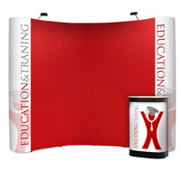 3x4 Fabric Covered Pop-up Stands with Graphic Ends