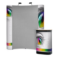 3x2 Fabric Covered Pop-up Stand with Graphic Ends