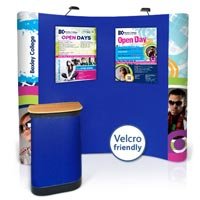 3x3 Curved Velcro-Friendly / Graphic Combination Popup Kit