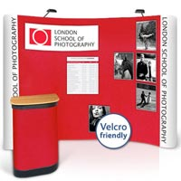 3x4 Curved Velcro-Friendly / Graphic Combination Popup Kit