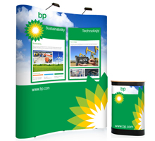3x2 Curved Pop-up Stands