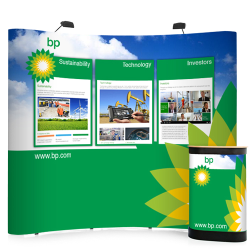 3x3 curved popup stands