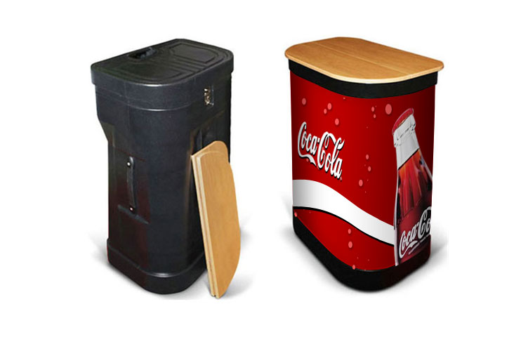 Upgrade your package to include a case to counter conversion kit which includes a beech top & matching graphic wrap.
