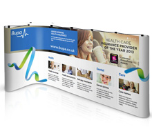 L-Shaped Pop Up Displays
