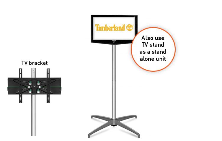 Exhibition Stand With Tv : Straight popup with tv stand quot
