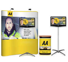 Pop up Displays with TV Stand