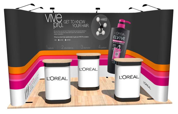 The perfect U-shaped pop-up stand ideal for exhibitions