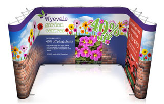 U-Shaped Pop Up Stand - 4m x 3m Space