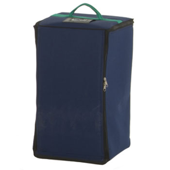 Carry bag with fold down brochure stands.