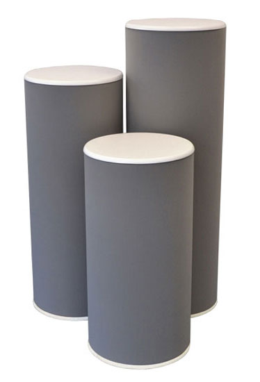 Cost effective and durable exhibition plinths available in a range of heights and diameters.